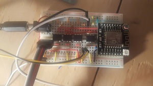 The complete breadboarded controller